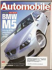 Automobile Mag Nov 2004 - BMW M5 - Mustang GT
