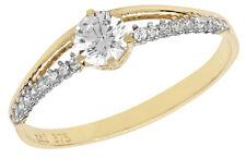 Anello Di Fidanzamento Solitario Da Donna Oro Giallo 0.50 Carato