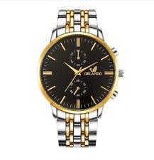 Mens Bracelet Wrist Watches Analog Quartz Fashion Stainless Steel in 4 Colour