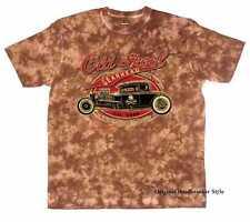 Camiseta Batik Marrón Vintage Hot Rod US CAR & `50 stylemotiv MODELO OLD SKOOL