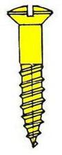 100 Holzschrauben Linsensenkkopf DIN 95 Messing 1.6 - 2.0 - 2.5 - 3.0