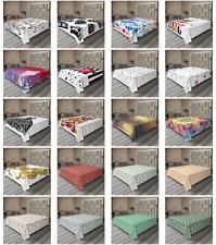 Ambesonne Modern Flat Sheet Top Sheet Decorative Bedding 6 Sizes