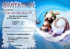 5 ou 12 cartes invitation anniversaire  lapin  réf 278