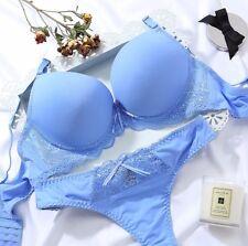 UK Sz Women Sexy Lace Balcony Push up Bra Set Panties Lingerie Set Briefs  A-B-C