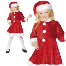 Filles Mini Miss Santa Claus Costume de Noël pour enfant enfant robe de fantaisie 4-12 ans