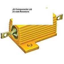 Metalclad résistances 25 watts fil plaie