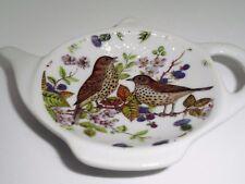 BN Vintage Birds Tea Bag Tidy, Tea Bag Rest, Porcelain Ceramic Tea Bag Holder