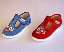 EMANUELA pantofola scarpa estiva italia BIMBO tela lavabile suola vera gomma 448