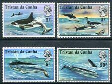 Tristan da Cunha 202-205, MNH, Marine Life, Whale s8598