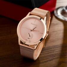 Fashion Women Men Alloy Belt Watch Minimalist Style Quartz Analog Wrist Watches