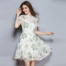 Élégant vestido vestido largo mujer en blanco mangas columpio slim suave 4165