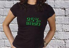00% 25% 50% 100% Irish - St Patricks Day Paddy's Day WOMENS GIRLS COOL T-SHIRT