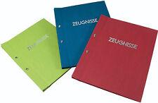 Goldbuch Zeugnissmappe 36003 24x31cm blau grün rot mit/ohne Prägung Auswahl NEU