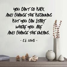 Non puoi tornare indietro e modificare l'inizio... - C.S Lewis-Wall Sticker Citazione