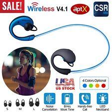 Wireless Sport Headset Headphone Stereo Music LED Illuminated Earphone W/Mic US