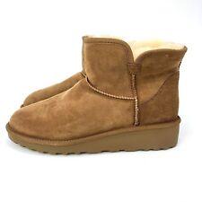 Brand New Kirkland Signature Ladies' Sheep Skin Shearling Short Boots Chestnut