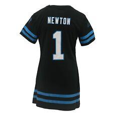 Carolina Panthers NFL Youth Girls Size Long Jersey-Style Cam Newton Dress  Shirt 88d1d37c3