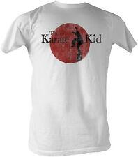 Karate Kid Faded Logo Off White Vintage Adult T-Shirt