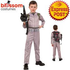 CK972 Child Ghostbusters Jumpsuit Boys Girls Fancy Dress Up Costume Halloween