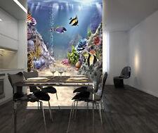 3D Ocean Fish 4 Wallpaper Murals Wall Print Wallpaper Mural AJ WALL AU Lemon