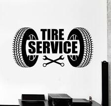 Vinyl Wall Decal Tire Service Repair Garage Car Stickers Murals (ig4840)