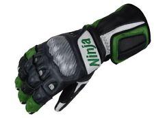 Bhai motocicleta guantes de cuero moto verde Ninja Kawasaki XS S M L XL XXL