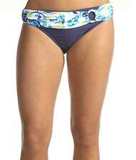 Tommy Hilfiger Swimsuit Bikini Bottom NEW Large 12 14 Blue Banded Floral 4404