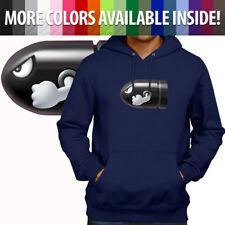 Bullet Bill Nintendo Super Mario Gamer Pullover Hoodie Sweater Mens Unisex S-3X