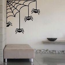 Corner Spider Wall Decals Halloween Window Stickers Halloween Decorations, h09