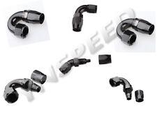 Aluminum Full Flow Swivel Fitting Hose End Black Degree 45 90 120 150 180