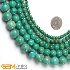 "Round Old Turquoise Gemstone Beads For Jewellery Making Strand 15"" Wholesale AU"