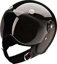 HCI Fiberglass Gloss Black Open Face Motorcycle Helmet w/ Face Shield 15-630