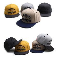 Unisex Mens Womens Melton Premier Legendary Snapback Baseball Cap Winter Hats
