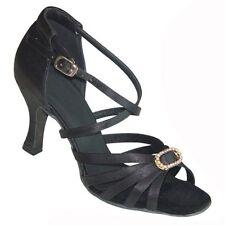 Señoras América Zapatos De Baile Salsa UK Size 3, 3.5, 4, 4.5, 5, 5.5, 6, 6.5, 7, 7.,5 8