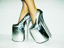 High heels 30cm silber 37 38 39 40 41 42 43 44 45 46 47 FS1446 Bolingier Poland