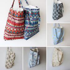 Women cotton linen Shoulder Shopping Bag Tote Package Bags Casual Handbag