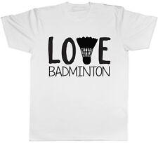 Love Badminton Mens Short Sleeve T-Shirt Tee