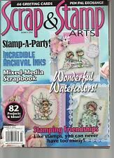SCRAP & STAMP ARTS, MARCH, 2012   WONDERFUL WATER COLORS !