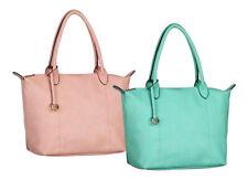 Damentasche Handtasche Umhängetasche Tasche Leder-Optik 43 x 30 cm Trend Farben
