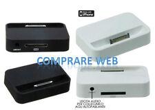 SUPPORTO DA TAVOLO PER IPHONE 4 base dock iPhone4 COLORI BIANCO E NERO