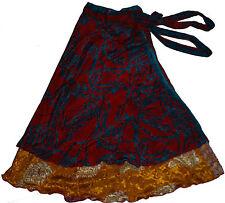 "5 skirts wholesale Magic Wrap Skirt Plus Size Long 36"" Sari Halter Xtra Large"