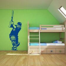 Bateador de cricket vinilos decorativo Deportes adhesivos pegatina pared