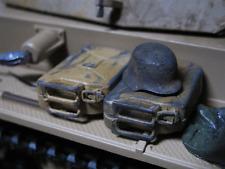 WWII 3x Stahlhelm Wehrmacht Afrika Corps DAK US Army Deko Zubehör RC Panzer 1/16