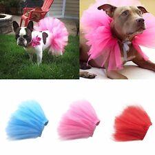 Pet Dog Cat Puppy Princess Tutu Dress Party Skirts Clothes Costume Apparel S M