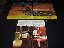 Pirelli advert with Saab 900, Jaguar XJ12 HE advert, Commodore 64k advert