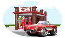 1956 Corvette Big A Gas Station Wall Decal Mural Hot Rod Garage Man Cave Decor