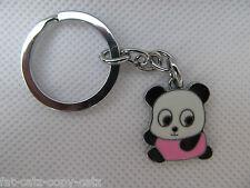 CUTE PINK PANDA BEAR ENAMEL FASHIONABLE KEYRING HANDBAG CHARM GIFT IDEA UKSELLER