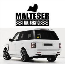 AYC Auto Aufkleber MALTESER Taxi Service Hundeaufkleber Hunde fun Siviwonder