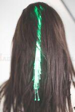 2 Stück LED leuchtende Kunsthaare Strähnen Extensions Haarsträhnen Lichtsträhne