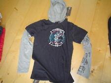 Wi 11/12 kapuzen-langarmshirt, noir gris de Garcia 140 -176